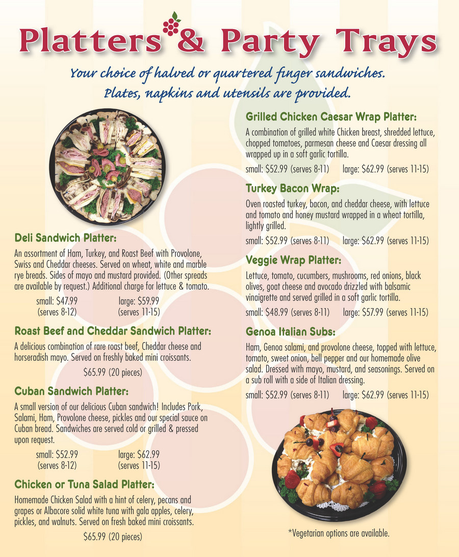 Bradenton SweetBerries Catering Menu - Page 2