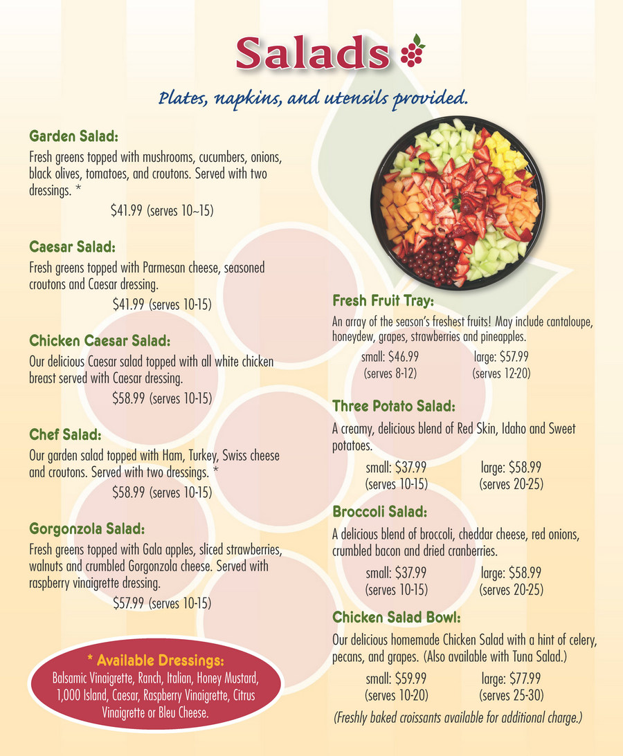 Bradenton SweetBerries Catering Menu - Page 3