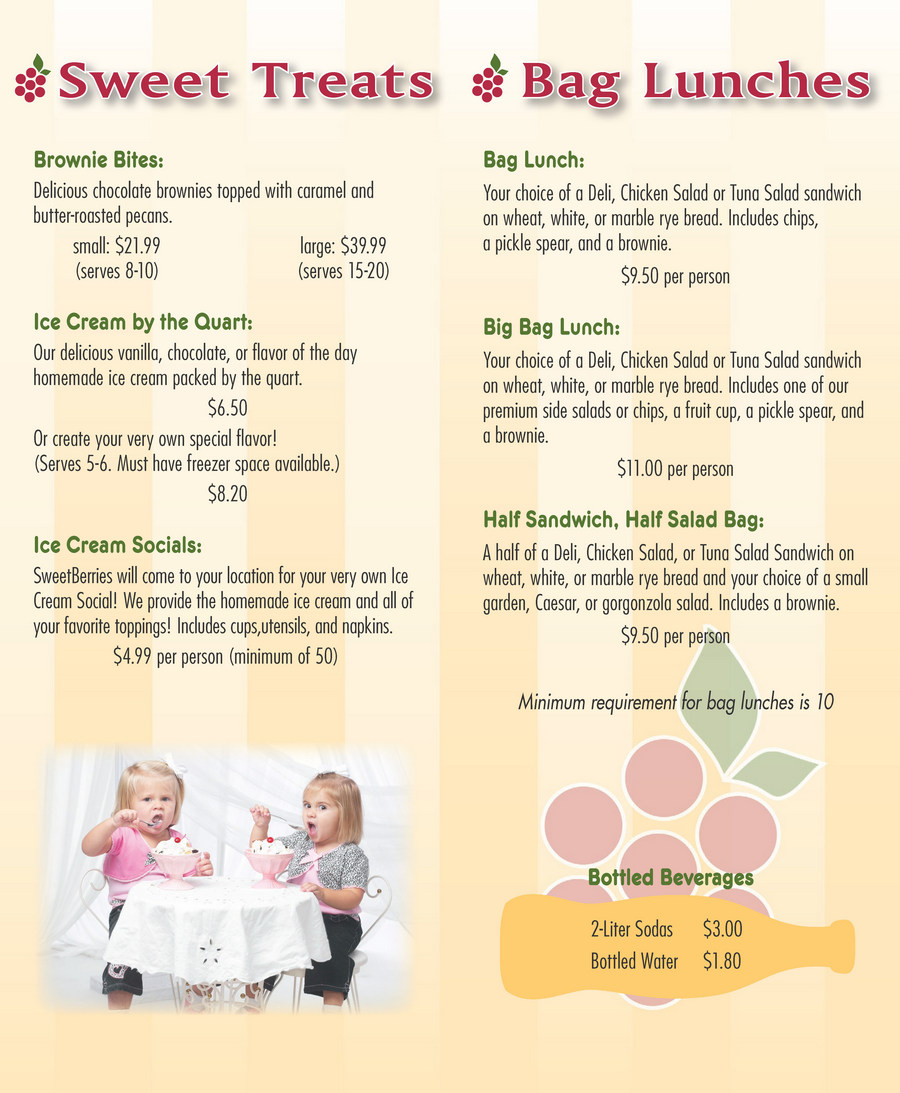 Bradenton SweetBerries Catering Menu - Page 4