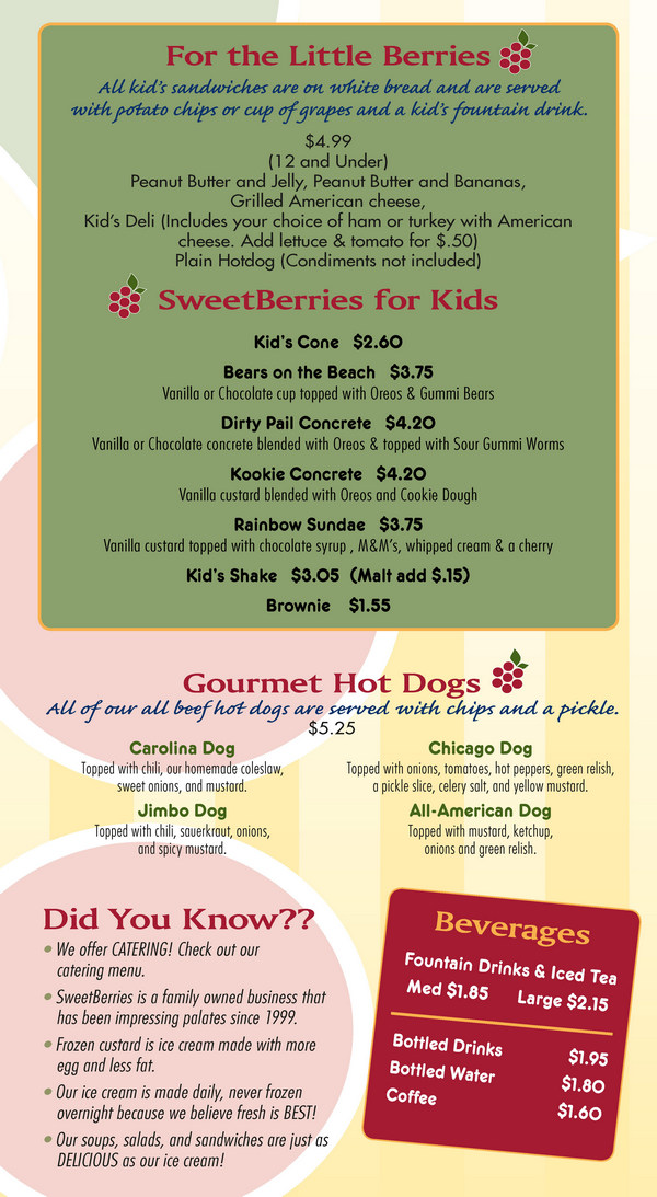 Bradenton SweetBerries Food Menu - Page 3