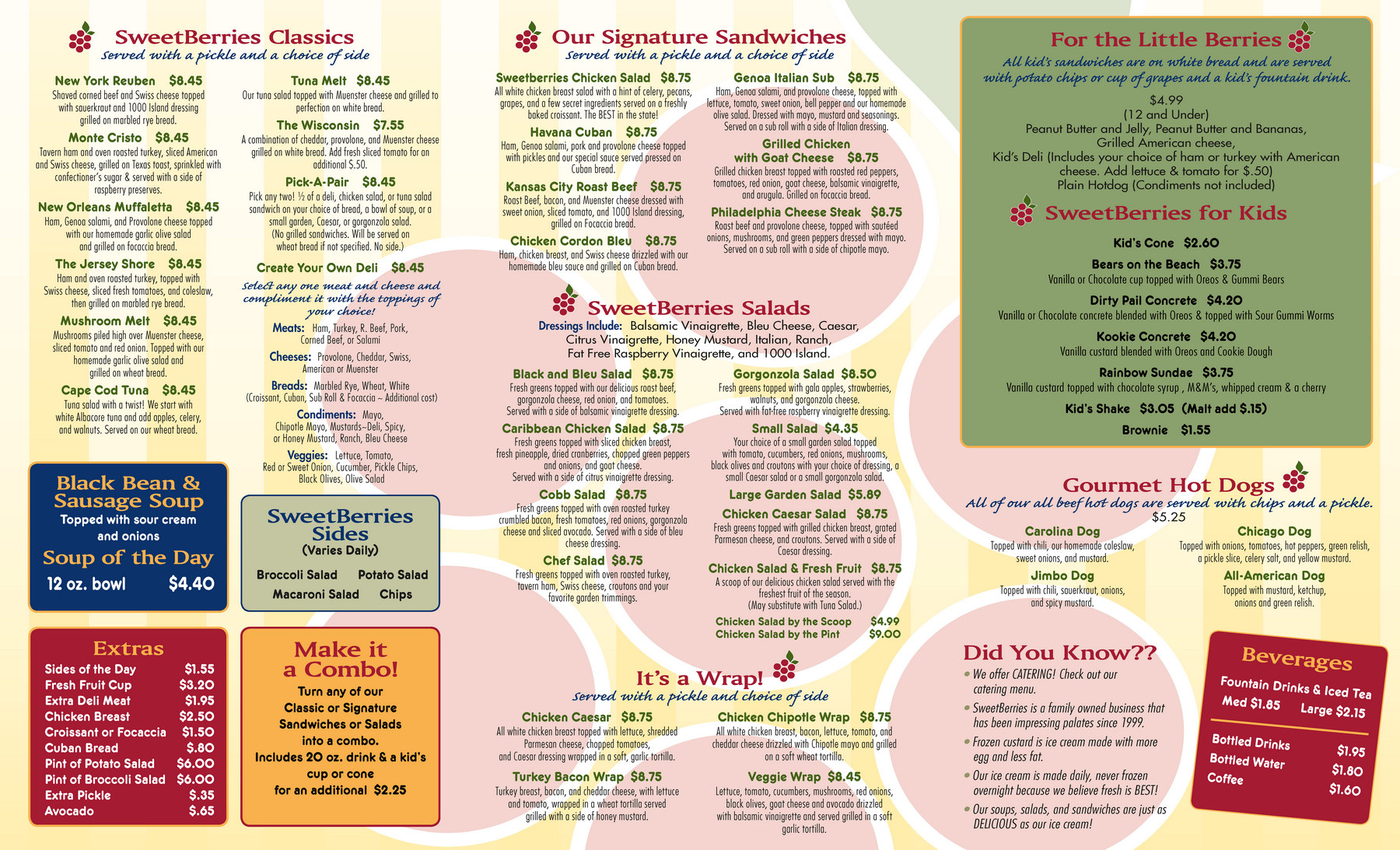 Bradenton SweetBerries Food Menu